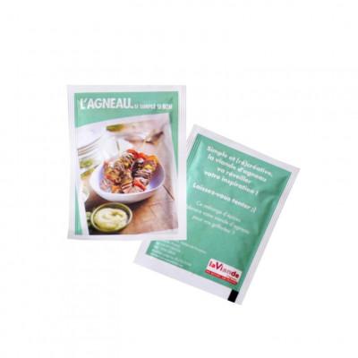 Sachet épices BIO personnalisé publicitaire, goodies écologiques, objet pub nature, produit naturel, communication green