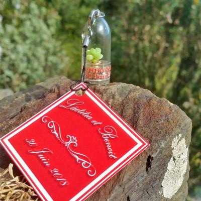 Mini plante cactus personnalisée cadeau invités mariage porte clé nature goodies écologique