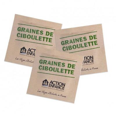 Sachet de graines personnalisés publicitaire, fleurs, aromatiques, légumes, goodies écologiques