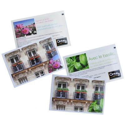 Sachet de graines personnalisés publicitaire, fleurs, aromatiques, légumes, goodies écologiques, objet pub nature