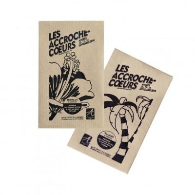 Sachet de graines exotiques personnalisés publicitaire, goodies écologiques, objet pub nature, papier kraft, naturel, bananier